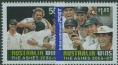 "AUS SG2736-7 ""Australia wins the Ashes"" set of 2"
